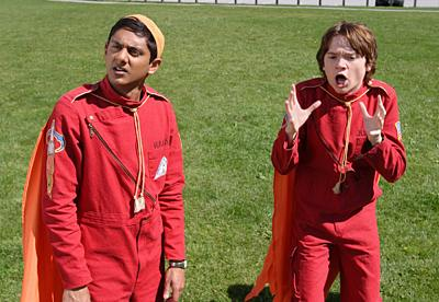 Aliens In America - Rocket Club -  Adhir Kalyan as Raja Musharaff and Dan Byrd as Justin Tolchuck