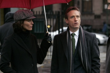 LAW AND ORDER - Alana De La Garza as Connie Rubriosa and Linus Roache as Assistant District Attorney Michael Cutter in