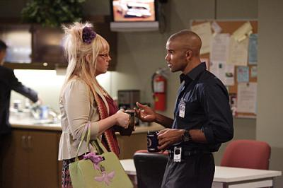 "CRIMINAL MINDS - Kirsten Vangsness as Penelope Garcia and Shemar Moore as Agent Derek Morgan in ""Lucky"""
