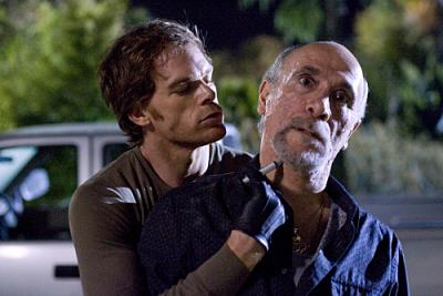 "DEXTER - Michael C. Hall as Dexter and Tony Amendola as Jimenez in ""Morning Comes"""