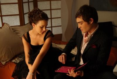 "GOSSIP GIRL - Leighton Meester as Blair and and Ed Westwick as Chuck in ""Seventeen Candles"""