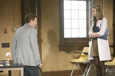 "HOUSE - Hugh Laurie as Dr. House and Anne Dudek as Dr. Amber Volakis in ""Games"""