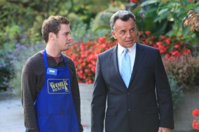 "REAPER - Bret Harrison as Sam and Ray Wise as The Devil in ""Love, Bullets and Blacktop"""