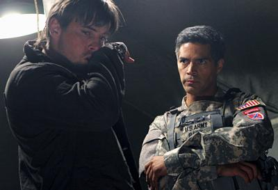 JERICHO - Skeet Ulrich as Jake Green and Esai Morales as Major Beck in Season 2