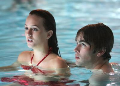 """GOSSIP GIRL -  Leighton Meester as Blair and Chace Crawford as Nate in """"School Lies"""""""