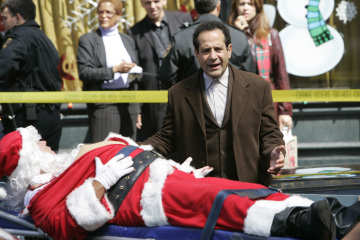 "MONK - Tony Shalhoub as Adrian Monk in ""Mr. Monk and the Man Who Shot Santa"""