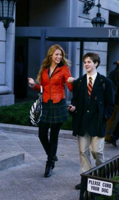 "GOSSIP GIRL - Blake Lively as Serena and Connor Paolo as Eric in ""The Thin Line Between Chuck and Nate"""