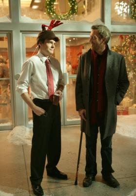 "HOUSE - Robert Sean Leonard as Wilson and Hugh Laurie as Dr. House in ""It's a Wonderful Lie"""