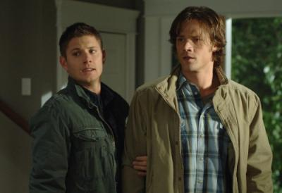"SUPERNATURAL - Jensen Ackles as Dean Winchester and Jared Padalecki as Sam Winchester in ""Malleus Maleficarum"""