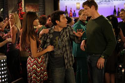 """HOW I MET YOUR MOTHER - Vanessa Minnillo and Josh Radnor as Ted in """"No Tomorrow"""""""
