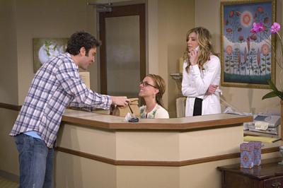 "HOW I MET YOUR MOTHER - Josh Radnor as Ted, Britney Spears as Abby, and Sarah Chalke as Stella in ""Ten Sessions"""