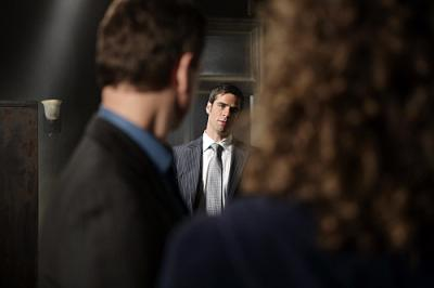 CSI NY - Eddie Cahill as Det. Don Flack, Melina Kanakaredes as Stella and Gary Sinise as Mac