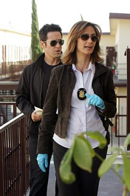 NUMB3RS - Rob Morrow as Don Epps and Diane Farr as Megan Reeves