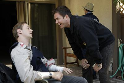 "NCIS - Sean Murray as McGee and  Michael Weatherly as DiNozzo in ""Dog Tags"""