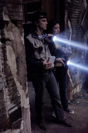 "SUPERNATURAL - Travis Wester as Harry Spengler and Brittany Ishibashi as Maggie Zeddmore in ""Ghostfacers"""
