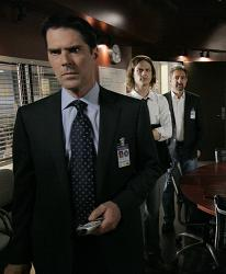 Agents Hotchner (Thomas Gibson) and Reid (Matthew Gray Gubler)