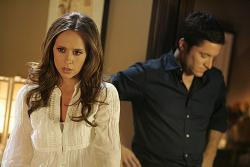 Jennifer Love Hewitt as Melinda and David Conrad as Jim