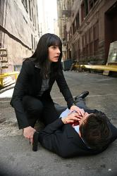 Agent Prentiss (Paget Brewster) and Detective Cooper (Eric Palladino)