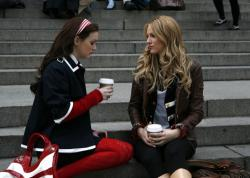 Leighton Meester as Blair and Blake Lively as Serena