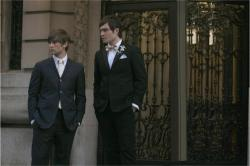 Chace Crawford as Nate and Ed Westwick as Chuck
