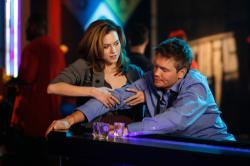 Hilarie Burton as Peyton and Chad Michael Murray as Lucas