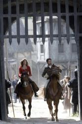 Lucy Griffiths as Marian and Dexter Fletcher as Count Friedrich