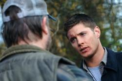 Jim Beaver as Bobby and Jensen Ackles as Dean