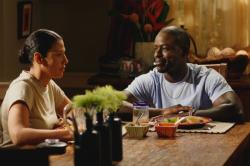 Joan (Wendy Davis) and Roland (Sterling K. Brown)