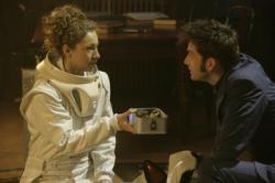 Alex Kingston as Professor River Song, David Tennant as The Doctor