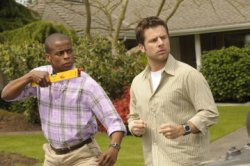 "Psych - Dule Hill as Burton ""Gus\"" Guster, James Roday as Sean Spencer"