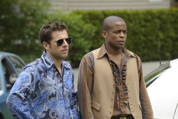 "Psych - James Roday as Sean Spencer, Dule Hill as Burton ""Gus\"" Guster"