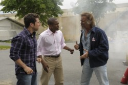 """Psych - James Roday as Shawn Spencer, Dule Hill as Burton \""""Gus\"""" Guster, Jeff Fahey as Dutch"""