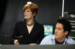 Eureka - Frances Fisher as Eva Thorne, Niall Matter as Zane Donovan