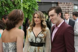 Gossip Girl - Leighton Meester as Blair, Madchen Amick as Catherine and Ed Westwick as Chuck