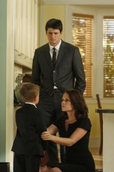 One Tree Hill - Jackson Brundage as Jamie, James Lafferty as Nathan, and Bethany Joy Galeotti as Haley