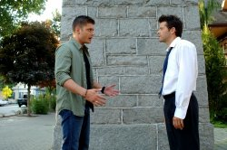 Supernatural - Misha Collins as Castiel and Jensen Ackles as Dean