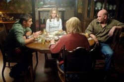 Supernatural - Jensen Ackles as Dean, Amy Gumenick as Mary, Mitch Pileggi as Samuel Winchester, and Allison Hossak as Deanna