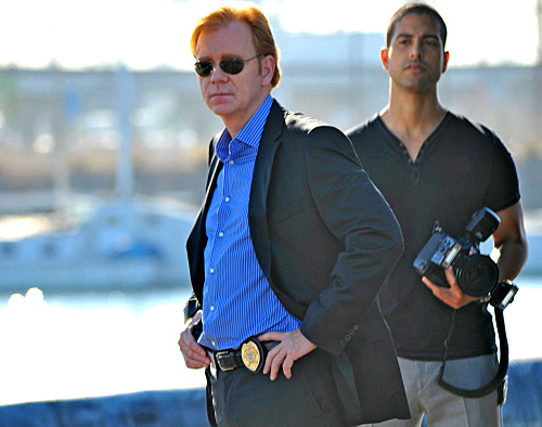David Caruso as Horatio Caine and Adam Rodriguez as Eric Delko