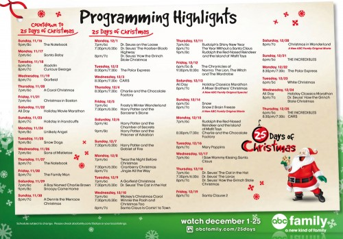 25 Days of Christmas 2008 Program