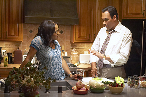 Lauren Velez as Lt. Maria Laguerta and Jimmy Smits as Miguel Prado