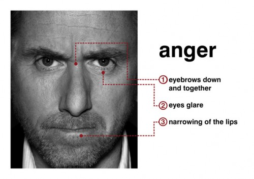 Tim Roth (Dr. Cal Lightman) portrays anger in Lie To Me