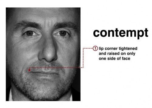 Tim Roth (Dr. Cal Lightman) portrays contempt in Lie To Me