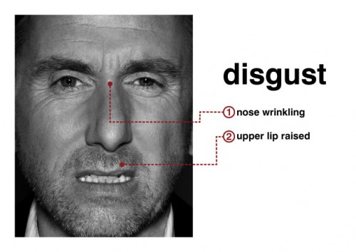 Tim Roth (Dr. Cal Lightman) portrays disgust in Lie To Me