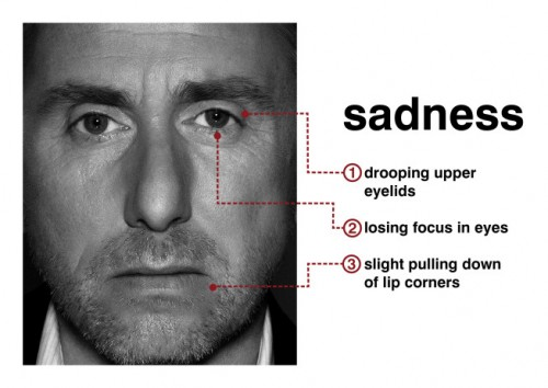 Tim Roth (Dr. Cal Lightman) portrays sadness in Lie To Me