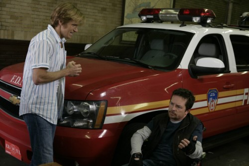 Denis Leary as Tommy Gavin and Michael J. Fox as Dwight - Rescue Me