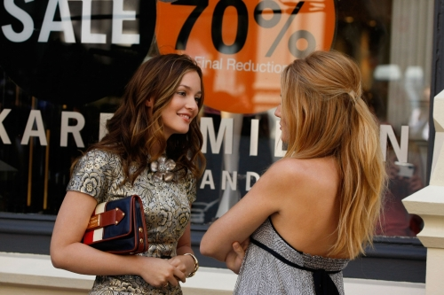 Leighton Meester as Blair, Blake Lively as Serena