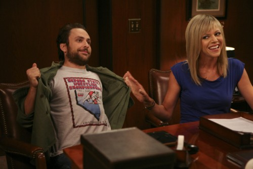 Charlie Day as Charlie and Kaitlin Olson as Sweet Dee
