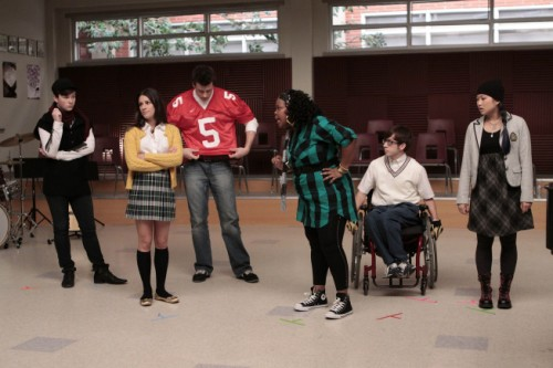 Chris Colfer, Lea Michele, Cory Monteith, Amber Riley, Kevin McHale and Jenna Ushkowitz