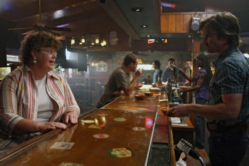 Charlaine Harris and Sam Trammell in True Blood