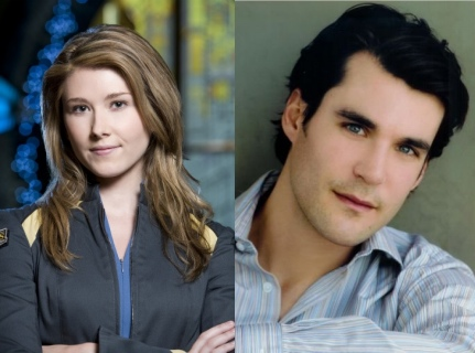 Jewel Staite and Sean Maher